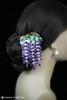 Wisteria Kanzashi Hair Pin (hanascibetta) Tags: wisteria kanzashi hairpin purple flowers resin dipart wire wedding bridal specialoccasion art artist jewelry accessories hair pin ornaments kimono かんざし 簪 きもの 着物