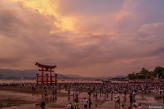 Miyajima Torii (fandarwin) Tags: miyajima torii low tide hiroshima blue hour sunset japan darwin fan fandarwin olympus omd em10