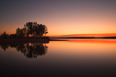 Streak of Dawn (mclcbooks) Tags: sunrise dawn daybreak morning trees silhouette landscape lake longexposure le lakechatfield colorado chatfieldstatepark