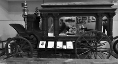 Horse-drawn hearse (Will S.) Tags: hearse carriage mypics brockvillemuseum brockville ontario canada museum bw