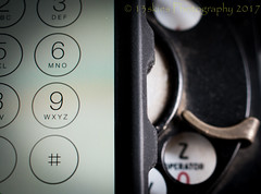 Hello (HMM) (13skies) Tags: macromondaysevolution phones cellphone rotarydialphone landline old history modern today advancement cool hip portable takealong technology calling dial touchscreen macroscopic macromondays mondays happymacromonday close sonyalpha100 analog digital