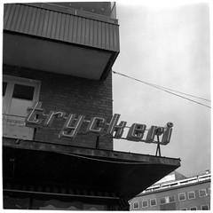 Lo-Fi autumn | Tryckeri (Mattias Lindgren) Tags: lubitel166 mediumformat paranols 6x6 analog autumn bw film linköping lofi lomo mf patina retro400s rollei scan sweden