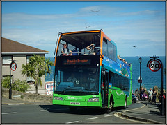 1403 Hope Hill (Jason 87030) Tags: steep hill hope road winding island iow isleofwight visionaire scania optare decker people 20 2017 view sea coast uk holiday summer sunny seagull birds sky weather hf09fvw