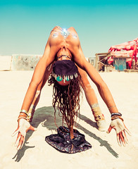 Burning Man Stretch (Stuck in Customs) Tags: burningman nevada 2017 stretch burnergirls jewels yoga acro acroyoga hair dust sand desert excercise shades woman treyratcliff stuckincustoms stuckincustomscom hdr hdrtutorial hdrphotography hdrphoto aurorahdr