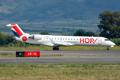 F-GRZO (MikeAlphaTango) Tags: lamezia aircraft airport aviation bombardier hop