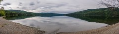 Overcast Day at Dease Lake - Panorama (MIKOFOX ⌘) Tags: cassiarhwy panorama creek june learnfromexif canada lake provia xt2 mikofox cassiar britishcolumbia beach water deaselake forest bc fujifilmxt2 showyourexif landscape spring clouds xf18135mmf3556rlmoiswr