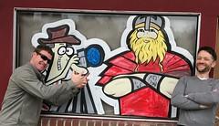 near Poulsbo, Washington (mark.wohlers) Tags: washington poulsbo cartoon photographer viking joke