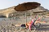 Matala (Angelo M™) Tags: creta grecia greece crete paesaggio landscape spiaggia beach matala grotte cavern rock roccia ombrellone umbrella
