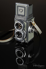 Rolleiflex 4x4 Baby Grey (PaulHoo) Tags: vintage classic camera gas gear equipment nostalgic closeup rolleiflex 4x4 baby grey film analog retro advertising design product