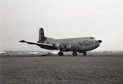 51-7284. United States Air Force Douglas C-124C Globemaster II (Ayronautica) Tags: ayronautica aviation usaf prestwick pik egpk scanned military propliner unitedstatesairforce 517284 douglasc124cglobemaster