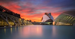Colours (Explore #1) (Anto Camacho) Tags: colours landscape bigstopper buiding valencia calatrava architecture urbanlandscape sunset water sky light