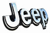 Jeep Logo (☁❅Jo Zimny Photos❅☁) Tags: macro macromondays letters silver shiny reflective onwhite