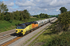 70802 Isham (Gridboy56) Tags: class70 70802 colasrail colas 6l44 cement wagons freight trains train locomotive locomotives railways railroad railfreight isham northamptonshire uk europe england diesel oxwellmains westthurrock