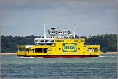 Yellow.......... Osprey!? (Jason 87030) Tags: red yellow osprey car ferry solent ikea flatpack furniture store swedish raptor blue sea crossing july 2009 canon eos boat craft vessel color colour