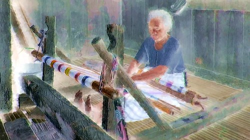 Indonesia - Flores - Traditional Village Bena - Weaving - 17bb
