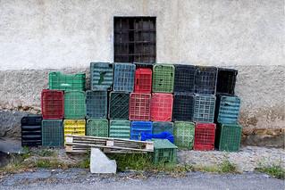 Plastic wall.