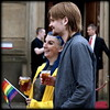 Dyed blue hair (* RICHARD M (Over 7 MILLION VIEWS)) Tags: streer candid portraits portraiture streetportraits streetportraiture candidportraits candidportraiture couples bluehair smiles happy happiness rainbowflag liverpoolpride gaypride lgbt beards bearded whiskers bewhiskered drinkers coupledrinking stgeorgesplateau liverpool merseyside liverpudlians scousers merseysiders europeancapitalofculture capitalofculture fun scouse