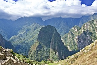 The sky high mountain peaks of Machu Picchu, Peru