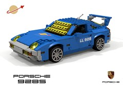 LL928 - Porsche 928 (1978) - Classic Space (lego911) Tags: porsche 928 s 1978 1970s classic ll928 ll space coupe v8 auto car moc model miniland lego lego911 ldd render cad povray lugnuts challenge 118 makeitatheme make it theme foitsop