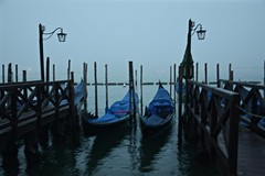 Magical Places and Things - Venice (1) (The Spirit of the World) Tags: venice bluehour gondolas boats lampposts italy europe romantic mood atmophere dock mooring lagoon water waterreflections reflections