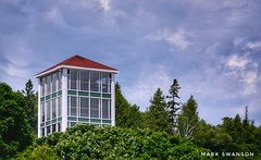 Mission Point Tower (mswan777) Tags: mackinac island sky cloud tree forest bluff mission point resort michigan summer travel tower architecture tall building nikon d5100 sigma 70300mm glass