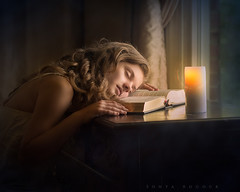 Midnight Oil (Sonya Adcock Photography) Tags: indoors window girl child kid photography childphotography light evening glow warm family painterly portrait candle poetry poetic story nikon nikond700 nikkor nikkor105mmdc childhood fineart fineartphotography art sonyaadcockphotography