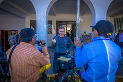 As we were leaving Huaraz the media was intrigued by our 3-year adventure.
