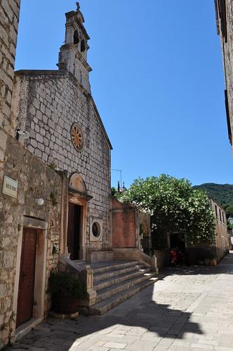 Crkva sv. Roka (église St Roch), 1569, Stari Grad, île de Hvar, comitat de Split-Dalmatie, Croatie.
