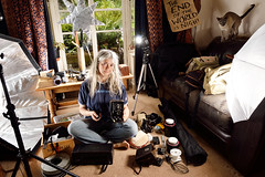 The grim reality of using one's sitting room as a  home studio (Apionid) Tags: chaos mess studio photography werehere hereios nikond7000 moriarty selfportrait themadnessofphotography