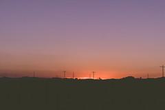 (Liza Williams) Tags: moody mood dark open lonely airport powerlines silhouette black orange purple sunset travelphotography arizona parker