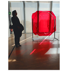 """Red ...  """"Breath of May 1968-2005""""  —  Gérard Fromanger, Exhibition, Centre Georges Pompidou, 2016. (michelle@c) Tags: arts plastiques contemporan art commemoration color zcupture halfsphere artist gérardfromanger mai1968 red optical cinetic game light woman visitor centre georgespompidou mnam paris 2017 michellecourteau"""