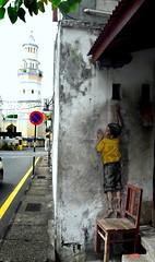 Street Mural @ Georgetown (阿Dex) Tags: streetart mural street georgetown unesco penang malaysia chair kid achehmosque