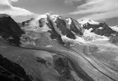 Piz Palü, Bellavista by miloniro - Location: Grisons, Area: Switzerland, Date: 27.08.2017,  Chamonix 057-N1 Nikon Nikkor SW  120mm f/8 Lens, Kodak T-Max 400, XTol