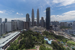 Petronas Twin Towers (Nur Ismail Photography) Tags: klcc kualalumpur citycentre suriaklcc shoppingcentre office architecture blueskies nurismailphotography klccpark conventioncentre construction landmark symphony lake malaysia