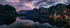 Priceless (martin.matte) Tags: hallstatt austria landscape panorama evening sunset colourful alps alpen mountains church village reflection water lake sky clouds travel