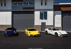 Trio (Hunter J. G. Frim Photography) Tags: supercar colorado ferrari f430 v8 italian black yellow giallo nero coupe ferrarif430 hre f12 berlinetta v12 tdf blue white bianco blu tour de france adv1 ferrarif12 ferrarif12berlinetta blutourdefrance tdfblue