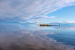 Sky Meets Water (Karma2c) Tags: water sky clouds seascape lake island blue