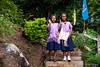 Karen Girls on the Steps 0141 (Ursula in Aus) Tags: banhuaymaegok banhuaymaegokschool hilltribeeducationprojects maehongson maesariang thep thailand