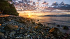 Acadia Beach (Sworldguy) Tags: acadia beach vancouver sunset westcoast ubc rocky logs ocean waterfront shoreline marine summer clouds serene reflections warmth colorful bc canada skyscape water seascape landscape travel coast sunlight cloudporn nikon d7000 dslr sun waves sigma wideangle