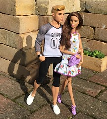 Steppin' Out With My Baby (MaxxieJames) Tags: vittoria belmonte bastian hunter doll dolls mattel barbie ken fashionista made move teresa superman