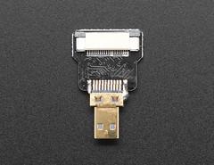 DIY HDMI Cable Parts - Straight Micro HDMI Plug Adapter (adafruit) Tags: 3556 lcd display accessories diy hdmi plug adapter