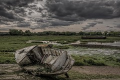 Unseaworthy (James Waghorn) Tags: wreck summer topazclarity d7100 river rivermedway water reflections splittone boat riversidecountrypark kent gillingham clouds sigma1750f28exdcoshsm nikon england uk