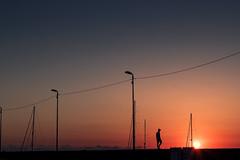 Lipari (Enricodot) Tags: enricodot ilobsterit eolie island sunset sunrise orange harbor