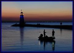 Night Photography - Night Fishing (zendt66) Tags: zende66 zendt nikon d7200 52weeks2017 weekly photo challenge theme nightphotography night photography okc oklahoma city lake hefner sunset lighthouse