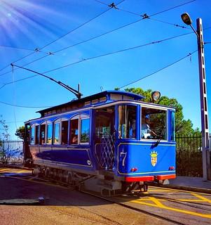 The blue trolley car. Barcelona 💙