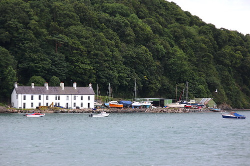 Houses along the Menai Strait