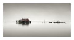 Get Away (Rohan Reilly Photography) Tags: venice venezia veneto panorama panoramic minimal minimalism fishing colour haidafilter