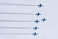 ブルーインパルス The Blue Impulse in the Tokyo Sky (ELCAN KE-7A) Tags: 日本 japan 東京 tokyo 八王子 hachioji ブルー インパルス blue impulse 航空 自衛隊 air selfdefense force t4 飛行機 航空機 airplane ペンタックス pentax k3ⅱ 2017