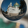 church in a ball (ewaldmario) Tags: glaskugel jugendstil ottowagnerkirche steinhof wien österreich at ottowagner artdeco kirche church vienna austria artificial glassball ball ewaldmario churchinaball bright green blue gold architecture composition