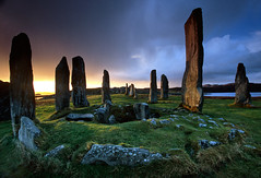Callanish stones - Isle of Lewis - Scotland (Frédéric Lefebvre - Landscape photography) Tags: callanish isleoflewis ecosse scotland standingstones uk heritage sunrise menhir morning winter cloudy beautifullight beautifulview beautifulsky green grass blue paysage